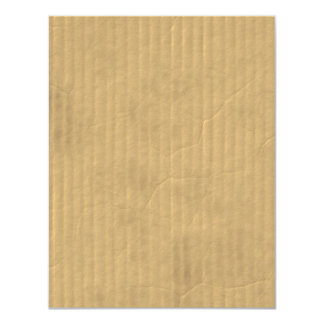Textura de la cartulina acanalada invitación 10,8 x 13,9 cm
