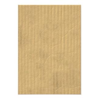 Textura de la cartulina acanalada invitacion personalizada