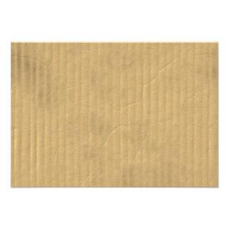 Textura de la cartulina acanalada comunicados personalizados