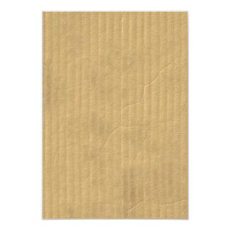 Textura de la cartulina acanalada invitación 8,9 x 12,7 cm