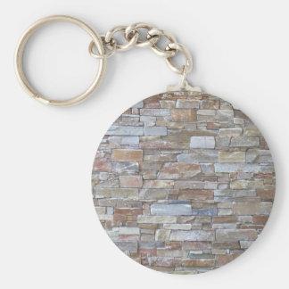 Textura de la pared de piedra llaveros personalizados