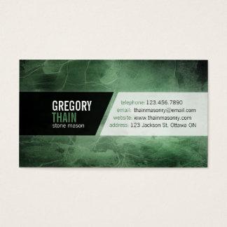 Textura de la piedra del Grunge - verde Tarjeta De Negocios