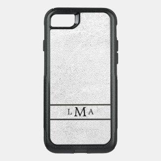 Textura de la plata del monograma funda commuter de OtterBox para iPhone 8/7