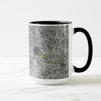 Textura de la roca del granito de la geología con taza