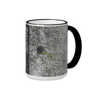 Textura de la roca del granito de la geología con taza de dos colores