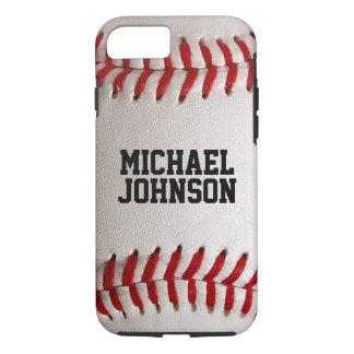 Textura de los deportes del béisbol con nombre funda iPhone 7