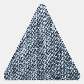 Textura de los tejanos pegatina triangular
