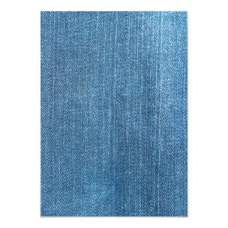 Textura de los vaqueros invitación 12,7 x 17,8 cm