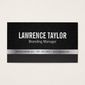 Textura de lujo/plata/rayas del | tarjeta de visita