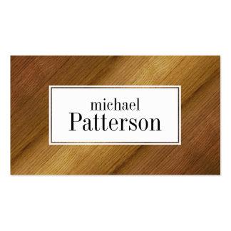 Textura de madera del suelo que mira la tarjeta de tarjetas de visita