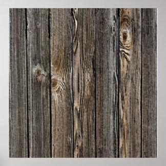 Textura de madera natural del fondo póster