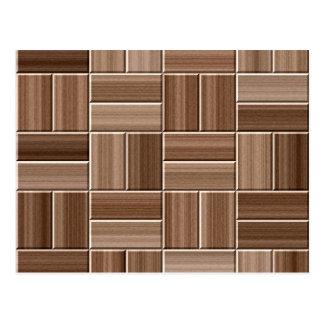 Textura de madera postal
