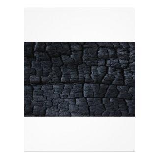Textura de madera quemada flyer personalizado