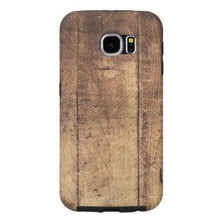 textura de madera rasguñada vintage fresco funda samsung galaxy s6