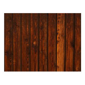 Textura de madera roja de la pared tarjetas postales