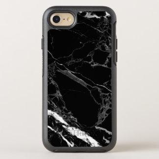 Textura de mármol negra de piedra con clase funda OtterBox symmetry para iPhone 7