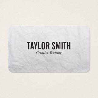 Textura de papel tarjeta de negocios