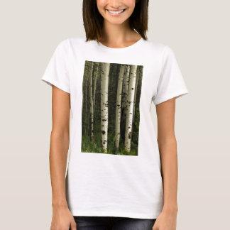 Textura de un retrato del bosque camiseta