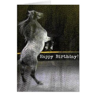 Textura del cordón del caballo del circo del cumpl tarjetas
