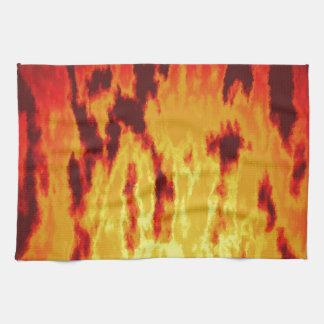 Textura del fuego paño de cocina