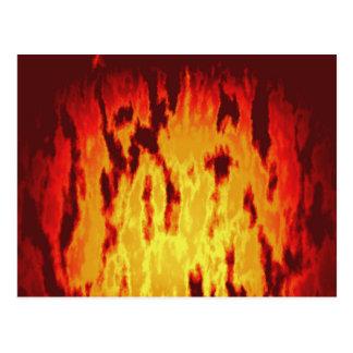 Textura del fuego postal