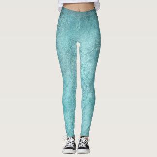 Textura del Grunge del gris azul y polainas Leggings