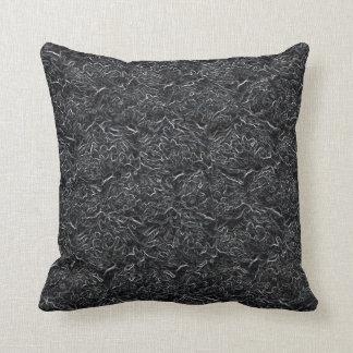 Textura del lío del arte de la fibra del hilado cojín