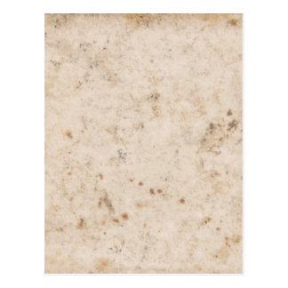 Textura del papel del vintage fastidiada postal