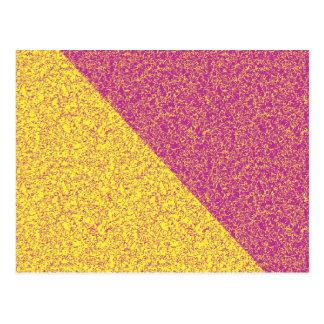 Textura del rosa y del amarillo postal