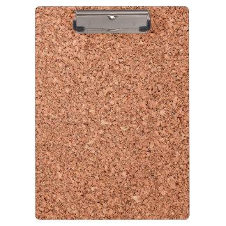 Textura del tablero del corcho carpeta de pinza