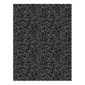 Textura elegante negra postal