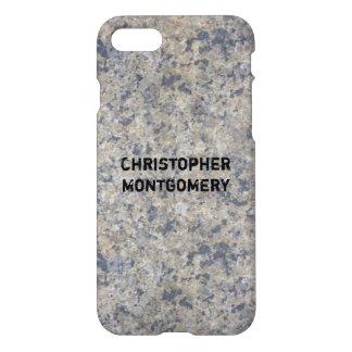 Textura gris de la piedra del granito funda para iPhone 7
