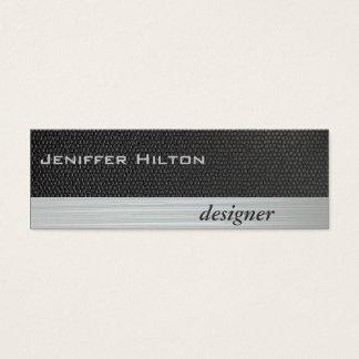 Textura gris de lujo moderna elegante profesional tarjeta de visita pequeña