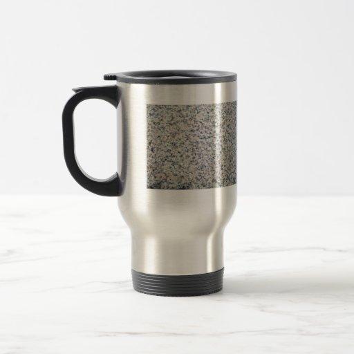Textura gris y blanca del granito tazas