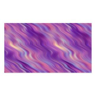 Textura ondulada púrpura violeta tarjetas de visita
