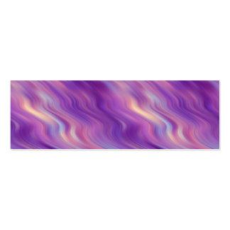 Textura ondulada púrpura violeta tarjetas de visita mini