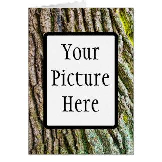 Textura orgánica 8 de la corteza tarjeta de felicitación