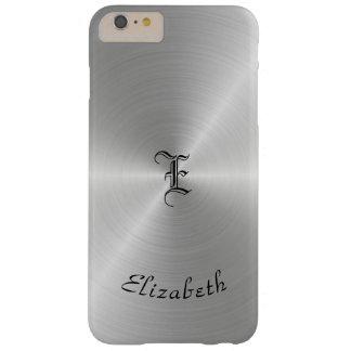 Textura pulida circular del metal, personalizada funda barely there iPhone 6 plus
