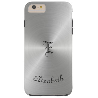 Textura pulida circular del metal, personalizada funda resistente iPhone 6 plus