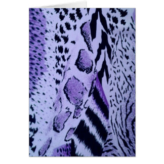 Textura púrpura del estampado de animales tarjeta de felicitación