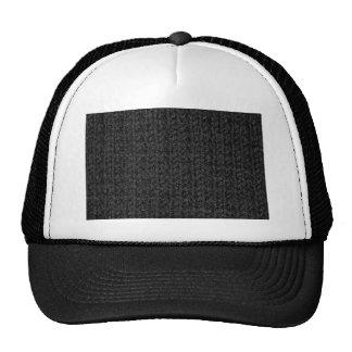Textura que hace punto del hilado Negro-Coloreado Gorras