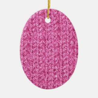 Textura que hace punto del hilado Rosado-Coloreado Ornamento Para Arbol De Navidad