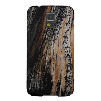 Textura quemada de la corteza de árbol funda para galaxy s5