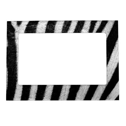 Textura rayada blanco y negro Templat de la piel Marcos Magnéticos