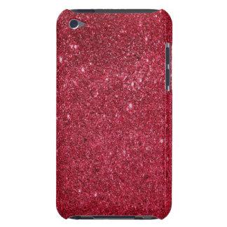 Textura roja fabulosa del brillo iPod touch funda