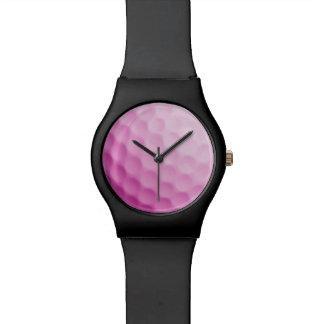 Textura rosada de los deportes del fondo de la relojes