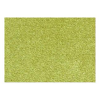 Textura verde de la alfombra tarjetas de visita grandes