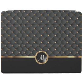 Textura y modelo negros elegantes del oro - cover de iPad