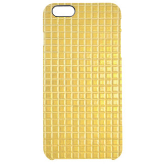 texturas del oro funda clearly™ deflector para iPhone 6 plus de unc
