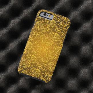 texturas del remolino del oro funda de iPhone 6 tough